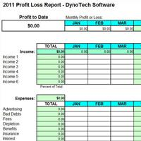 Simple Expense Organizer for Small Business - Profit Loss Report ...